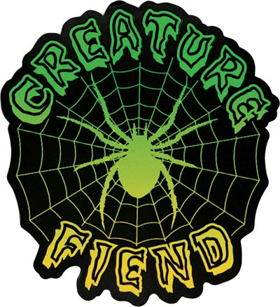 Creature skateboards fiend sticker design