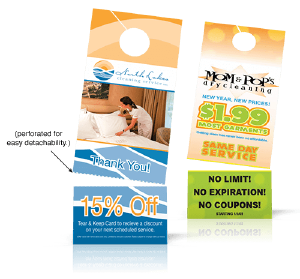 Door Hanger with Rip Card Printing