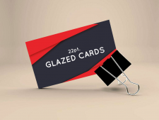 Glazed Business Cards