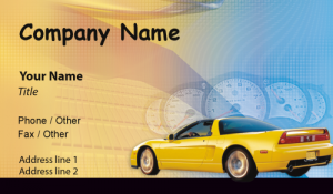 Automotive and Transportation Business Cards